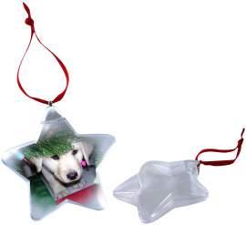 Karácsonyfa dísz (csillag alakú)
