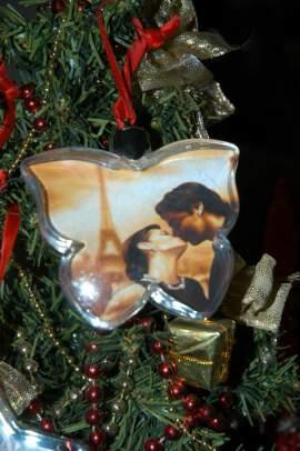 Pillangó alakú karácsonyfa dísz