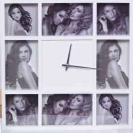 8db-os fényképkeret órával