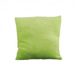 Zöld plüss párnahuzat