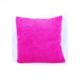 Rózsaszín plüss párnahuzat