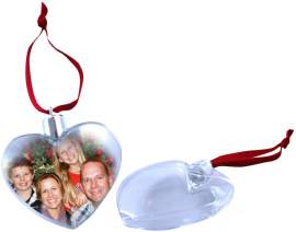 Karácsonyfa dísz (szív alakú)