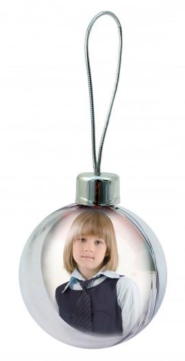 8 cm-es gömb karácsonyfadísz fényképpel