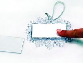 8 cm-es hópehely karácsonyfadísz fényképpel